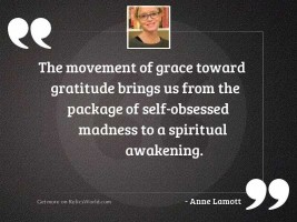 The movement of grace toward