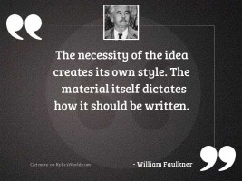 The necessity of the idea