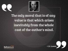 The only moral that is