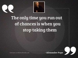 The only time you run