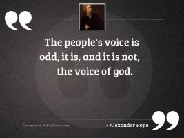 The people's voice is