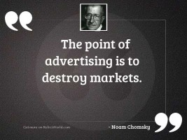 The point of advertising is
