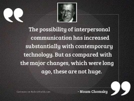 The possibility of interpersonal communication