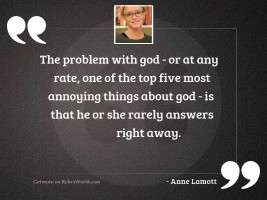 The problem with God   or