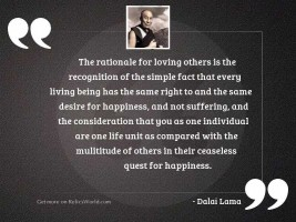 The rationale for loving others