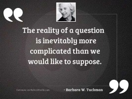 The reality of a question