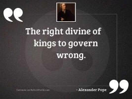 The Right Divine of Kings