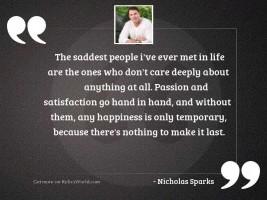 The saddest people I've