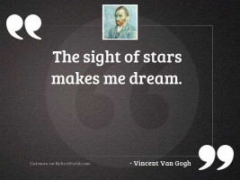 The sight of stars makes