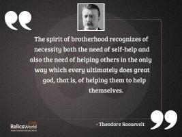 The spirit of brotherhood recognizes