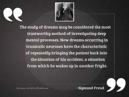 The study of dreams may