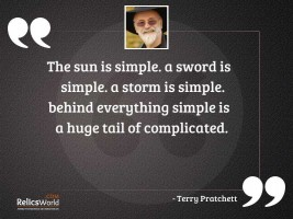 The sun is simple A