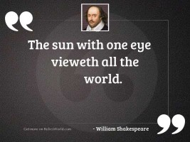 The sun with one eye