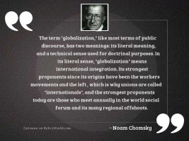 The term  globalization,  like most