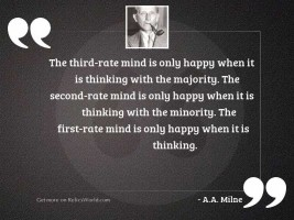 The third-rate mind is