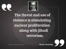 The threat and use of