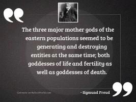 The three major mother gods