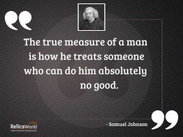 The true measure of a