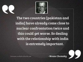 The two countries [Pakistan and