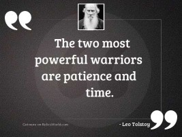 The two most powerful warriors