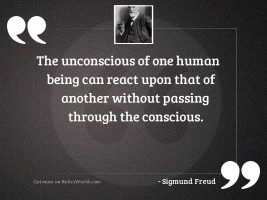 The unconscious of one human