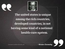 The United States is unique