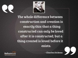 The whole difference between construction
