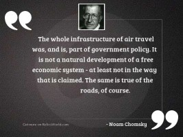 The whole infrastructure of air