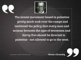 The Zionist movement based in