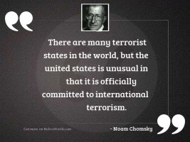 There are many terrorist states