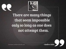 There are many things that
