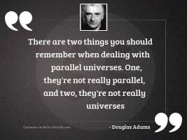 There are two things you
