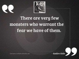There are very few monsters