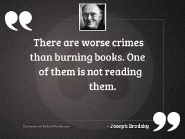 There are worse crimes than