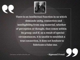 There is an intellectual function
