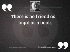 There is no friend as