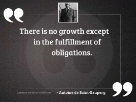 There is no growth except