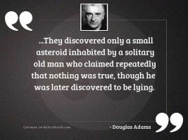 they discovered only a small