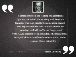 Thomas Jefferson, the leading Enlightenment
