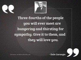 Three fourths of the people