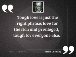 Tough love is just the