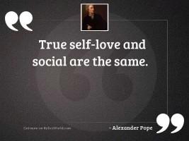 True self love and social