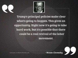 Trump's principal policies make