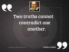 Two truths cannot contradict one