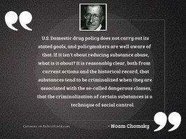 U.S. domestic drug policy