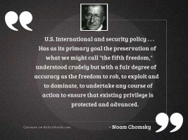 U.S. international and security