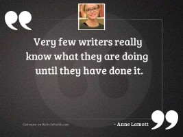 Very few writers really know