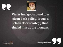 Vimes had got around to