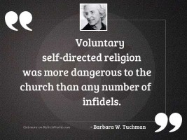 Voluntary self directed religion was