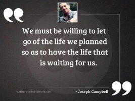 We must be willing to